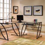 Z-Line Belaire Glass L-Shaped Computer Desk